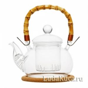 """Чайник стеклянный """"Мак"""""""